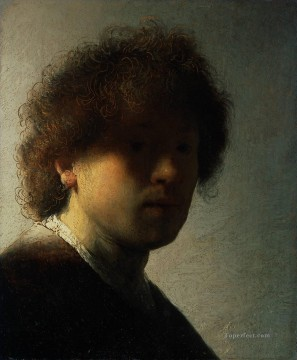 Self Portrait at an Early Age 1628 Rembrandt Oil Paintings